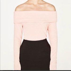 Zara Off-The-Shoulder Sweater